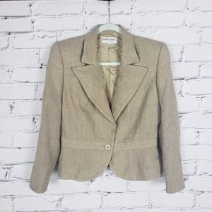 Giorgio Armani Vintage Tan Wool Blazer